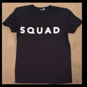 """Women's """"Squad"""" Graphic Shirt Size Small"""